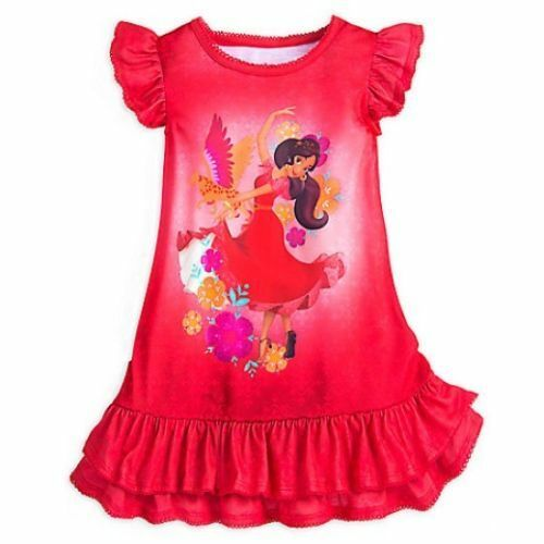 NWT Disney Store sz 9//10 Elena of Avalor Red Girls PJ Pajama Nightgown