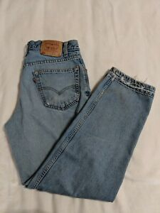 Afflig Jeans Rouge Bleu Etiquette Actuel 550 32x30 Vintage Levi 33x30 Naturellement vAZ1I