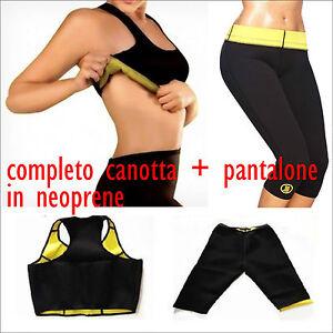 Palestra Canotta Hot Neoprene Shapers Dimagrante TopPantalone eCxBord