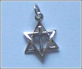 sterling silver messianic star of david cross necklace ebay