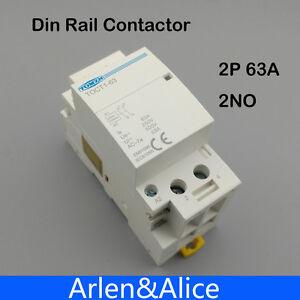 TOCT1 2P 63A 220V//230V 50//60HZ Din rail Household ac Modular contactor 2jbMWUS