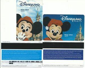 2 Pass Euro Disney Disneyland Mickey Minnie Hiver Verso Gemplus 98/12 Ttb Mjocc1hd-07230812-622633739