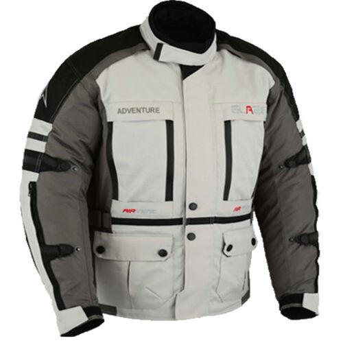 Herren Touren Motorradjacke Textil schwarz grau Gr M L XL XXL 3XL-5XL