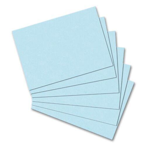 DIN A6 blanko Karteikarten 0,02€//Stück 100er Pack blau Herlitz 170 g//m²
