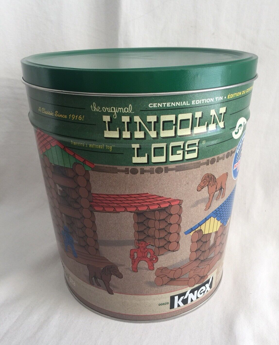 Lincoln Logs Logs Logs Centennial Edition Tin 154 Pieces 11d73a