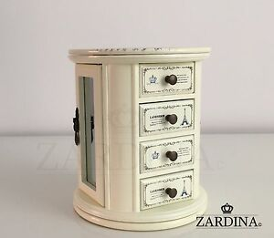 Lavender - Fairy Tale Swivel Wooden Jewellery Box 3890821963472