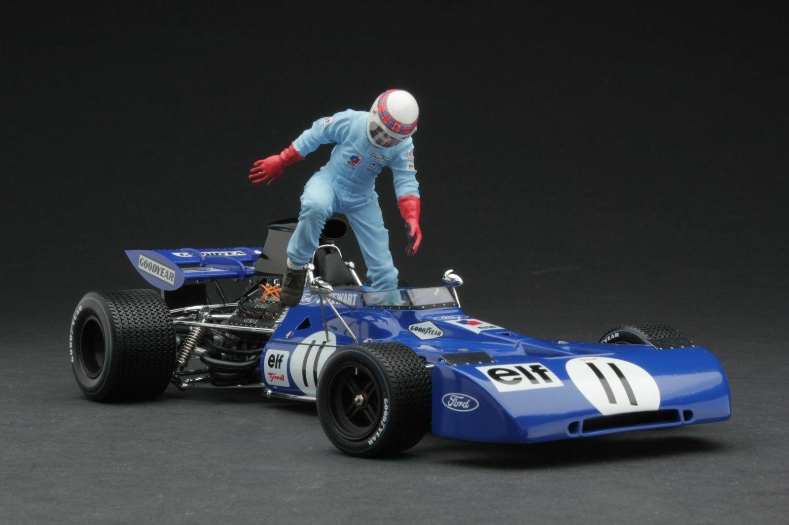 Exoto Ford Tyrrell 003 F1 Coche Carreras 1 18 Jackie Stewart 1971 Canadian Gp