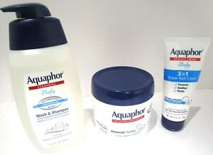 Aquaphor Baby Healing Ointment 14oz & Wash / Shampoo 16.9oz & Diaper Cream 3.5oz