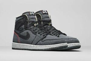 Original violación Desilusión  Nike Air Jordan 1 High Tops Zoom Air Crater Grey Suede Recycled Size 11 UK  NEW | eBay