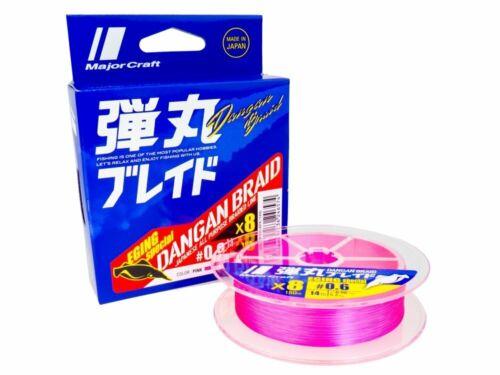 Major Craft Dangan Braid X8 Eging Special Pink 150m #0.5 #0.8 Geflochtene