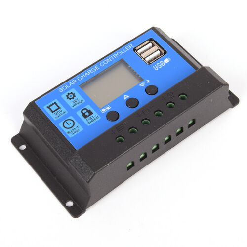12V//24V Panneau solaire batterie régulateur charger contrôleur 20 A PWM Affichage LCD te