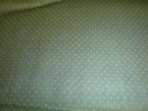 Vtg-Celery-Green-Cotton-Dotted-Swiss-Dots-Flocked-Fabric-44-034-x-1-5Yds