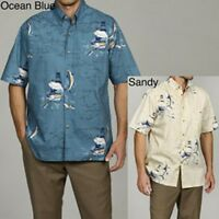 Hook & Tackle Men's -multicolor-ocean Blue-small - Fish Charts Shirt