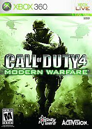 Call Of Duty 4 Modern Warfare Microsoft Xbox 360, 2007  - $10.00