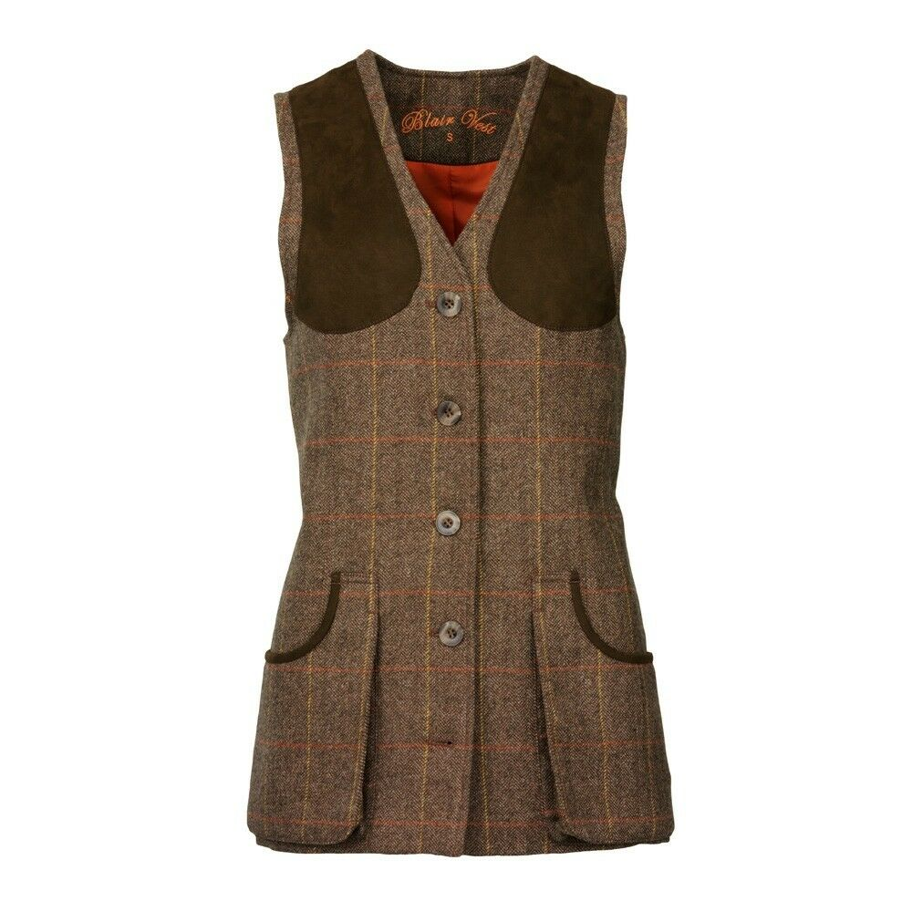 Ladies Laksen Blair Tweed Shooting Vest