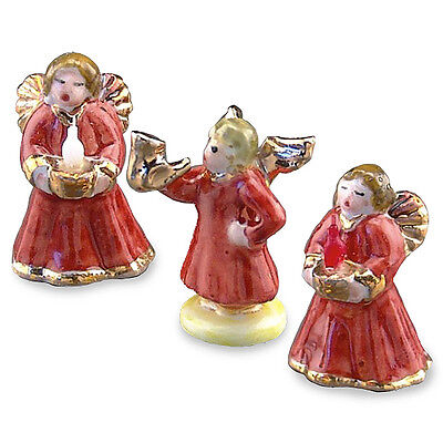 Other Dollhouse Miniatures Charitable Reutter Porzellan Figure Angeli Natale/christmas Angels Puppenstube 1:12 Up-To-Date Styling