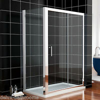 Chrome1400x760mm Sliding Shower Enclosure Glass Screen Cubicle Doors Side Panel