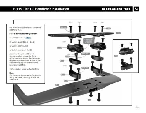 #38912 Argon18 Replacement E119 Extension Connector Base 4.12.1