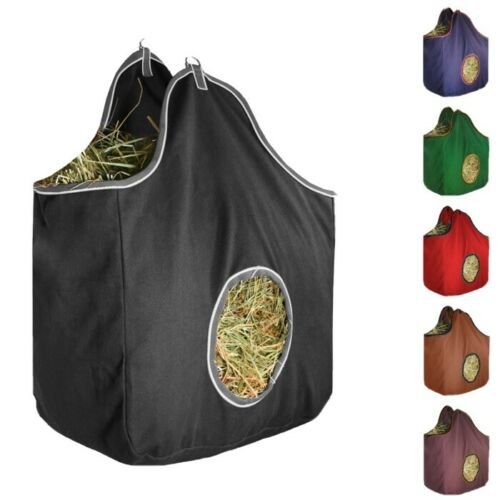Derby Originals D-Ring Canvas Horse Hay Bag Red Green Navy Color Choices NEW