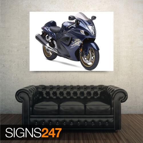 HAYABUSA SUZUKI BLUE BIKE 1688 Motorbike Poster Poster Print A0 A1 A2 A3 A4