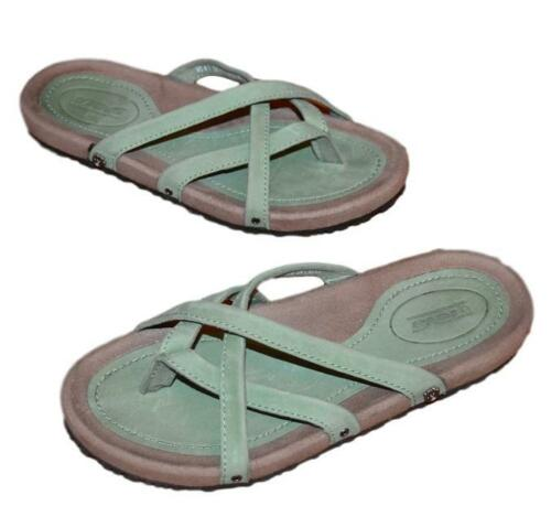b789d0cb4c3f 6 of 12 Nwob Teva Ladies Downtown Ola Mosstone Green Waterproof Leather  Thong Sandals 7