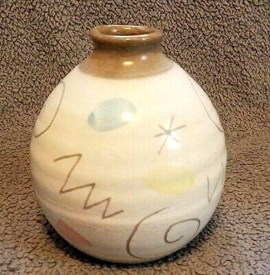 Inca Ritz motif signed UNIQUE STUDIO ceramic pottery vase