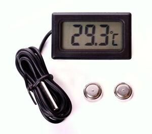 Digital Einbau Thermometer Digitalthermometer Temperaturmesser LCD -10°~+120°C