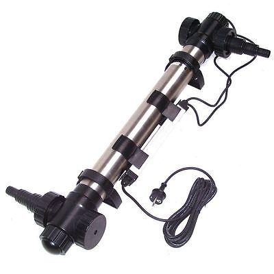 Edelstahl UVC Lichtfilter 55W/75W UV Gerät Teichklärer Wasserklärer Teichfilter