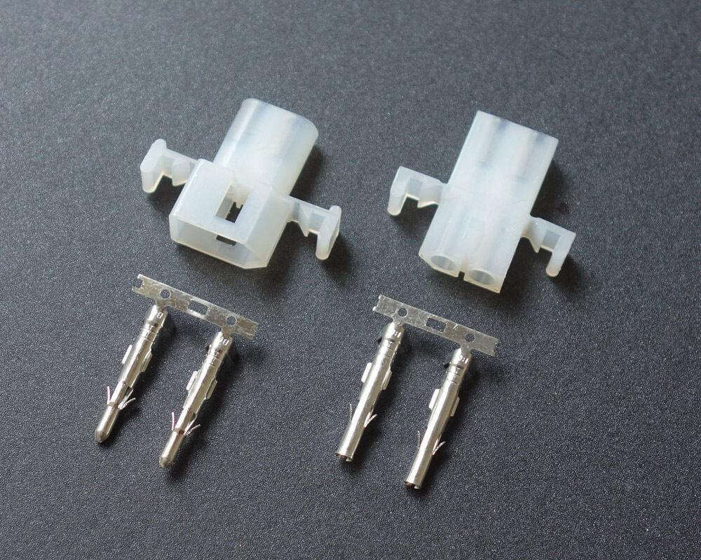 2 Kits Power Connector 2 Pin Pins Circuit Way Molex .093