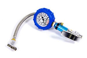 QuickCar Racing Tire Inflator With Analog 60 PSI Air Pressure Gauge Relief Valve