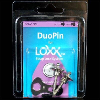 Nickel Loxx Box Standard Electric Guitar Bass Strap Duopin