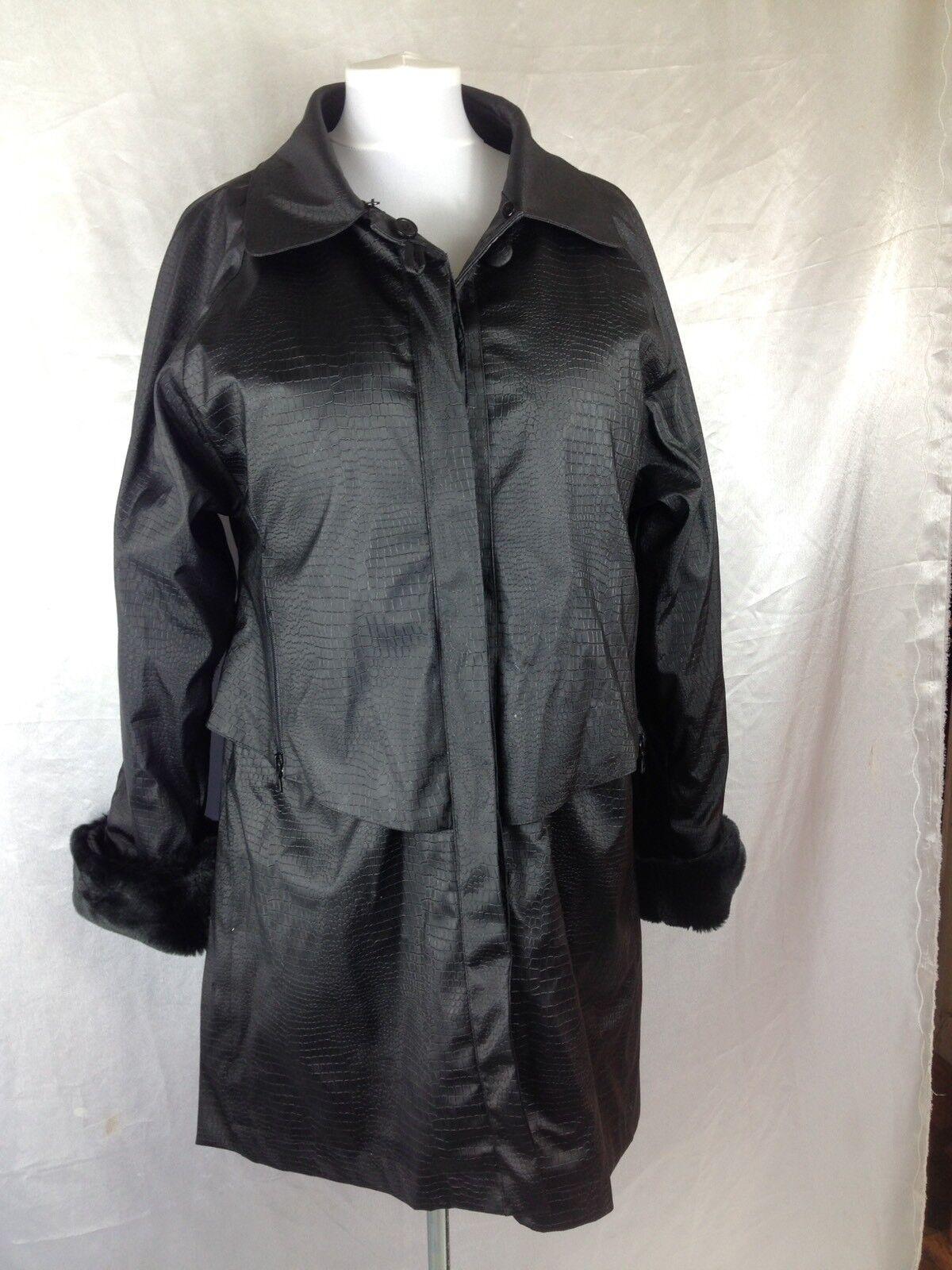 Rubbery Shiny PU Rustling Noisy Raincoat Mac Mistress Sissy 40 Chest Macintosh