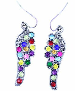 Silvery-black-angel-wing-earrings-with-colourful-crystal