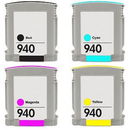 1 Set Completo 940xl 4 Cartuchos De Tinta Para Hp Officejet Pro 8000 8500 a909n a909g