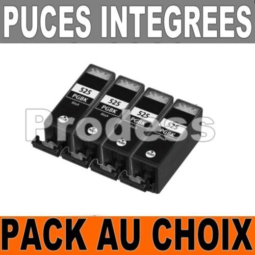 Lot de cartouches compatible Canon PG525 CL526 noir cyan magenta jaune grey