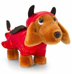 Image Is Loading Keel Toys SAUSAGE DOG In DEVIL OUTFIT 26cm