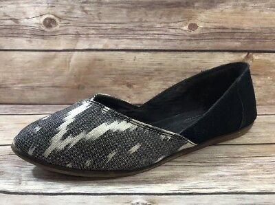 TOMS sz 6 JUTTI Black Suede Leather