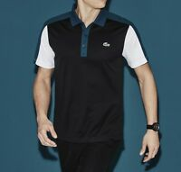 Lacoste Sport Ultra Dry Men's Polo Shirt Top T-Shirt Genuine - Black - RRP £75