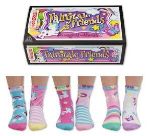 United-Oddsocks-Fairytale-Friends-Socks-Size-9-12-Girls-Socks-Boxed
