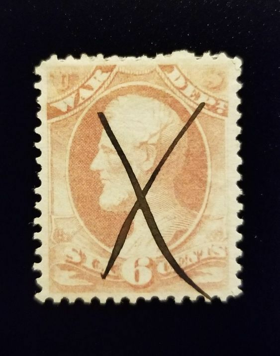 1873 6c Official Department of War Stamp, Lincoln, Rose