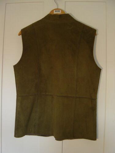 taille la 42 en sur olive harv'e vert suède poitrine M Benard femmes Débardeur pour zippé 8wqSvng7