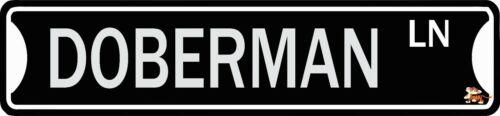 "DOBERMAN  Street Sign 18/"" x 4/"" Novelty Aluminum"