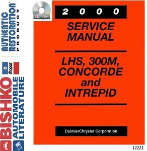 2000 chrysler lhs 300m concorde intrepid shop service repair manual rh ebay com 2001 Chrysler 300M 2006 Chrysler 300M