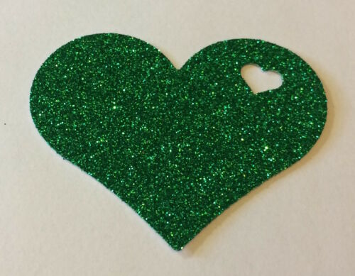 Multi Listing *NEW COLOURS* 30 Pieces Heart In Heart DELUXE GLITTER