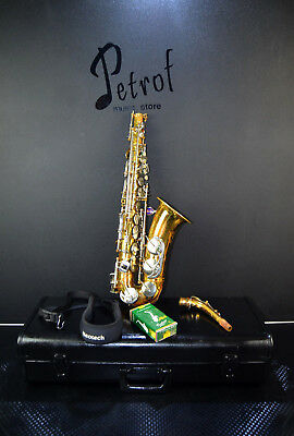 Flight Tracker Vintage Rare Top Alt /alto Saxophone B&s Blue Label+mouthpiece&hard Case~germany Be Shrewd In Money Matters Saxophones Wind & Woodwind
