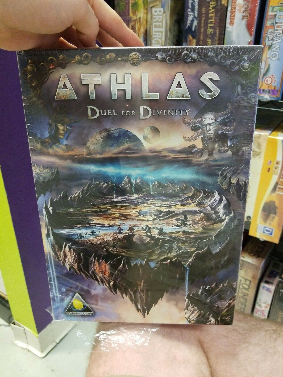 Athlas Duel for Divinity Board Game