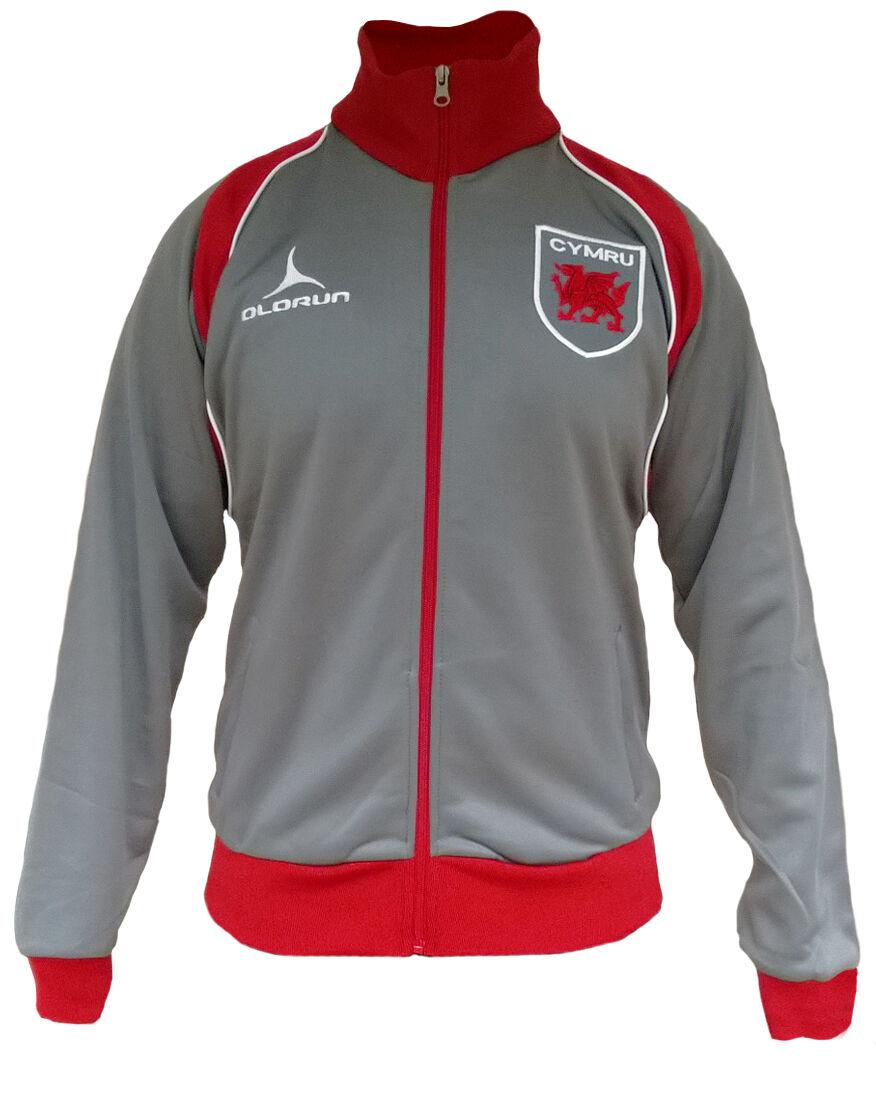 Olorun Wales Rugby Rugby Rugby Fans Retro Jacke Grau Rot Größe S-4XL 437150