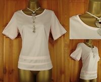 NEW EX M&S PEACH PINK SHORT SLEEVE SUMMER BLOUSE TOP UK 10 12 14 16 18 20 22