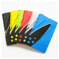 Color Portable Credit Card Thin Cardsharp Wallet Folding Pocket Knife Camping