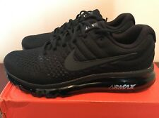 Men Nike Air Max 2017 Black Running Shoes Sz 9.5